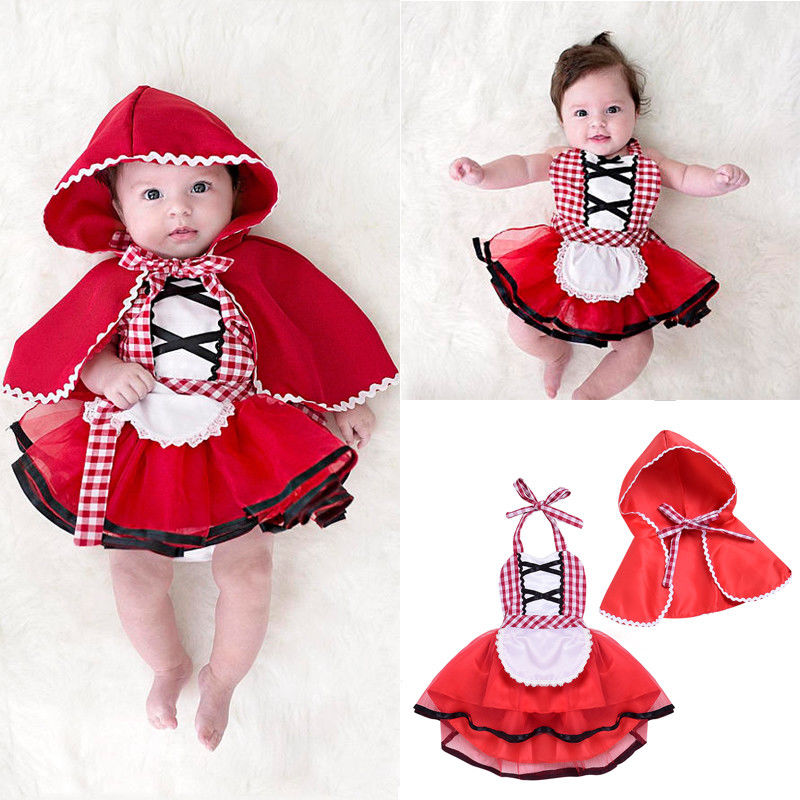 3171a6240da8 Girl Baby Toddler Cute Red Xmas Little Princess Fancy Dress Costume ...