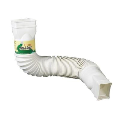 White Downspout Extension 85010 At The Home Depot Downspout Downspout Diverter Rain Barrel