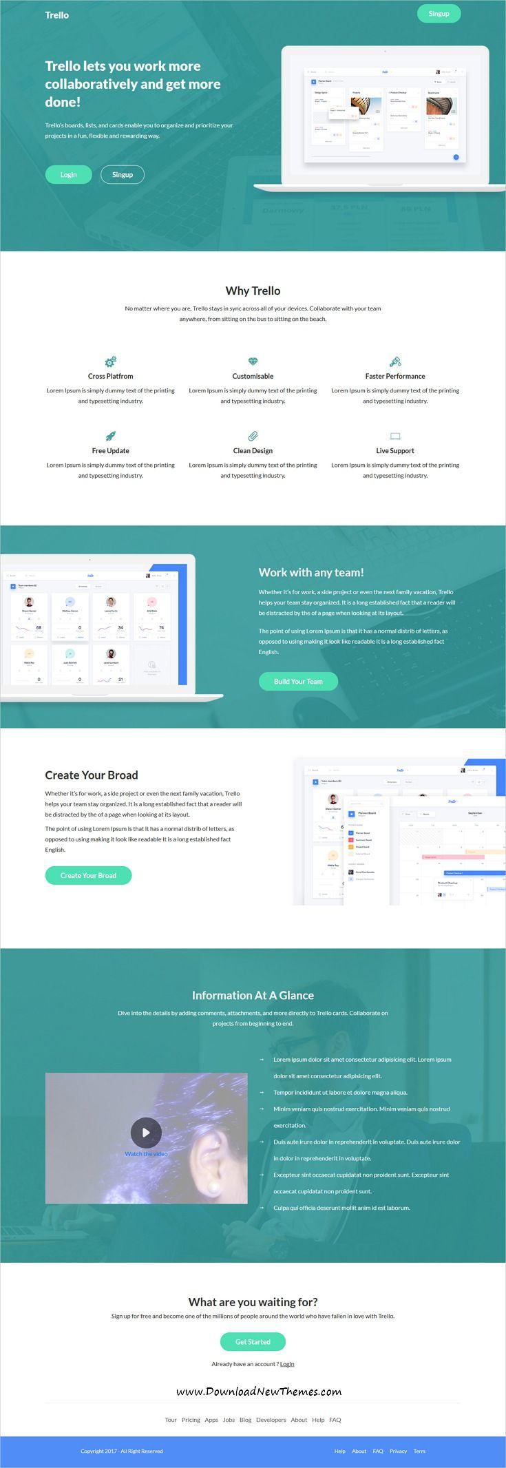 SaaSLab - Software, SaaS and WebApp Bootstrap Template