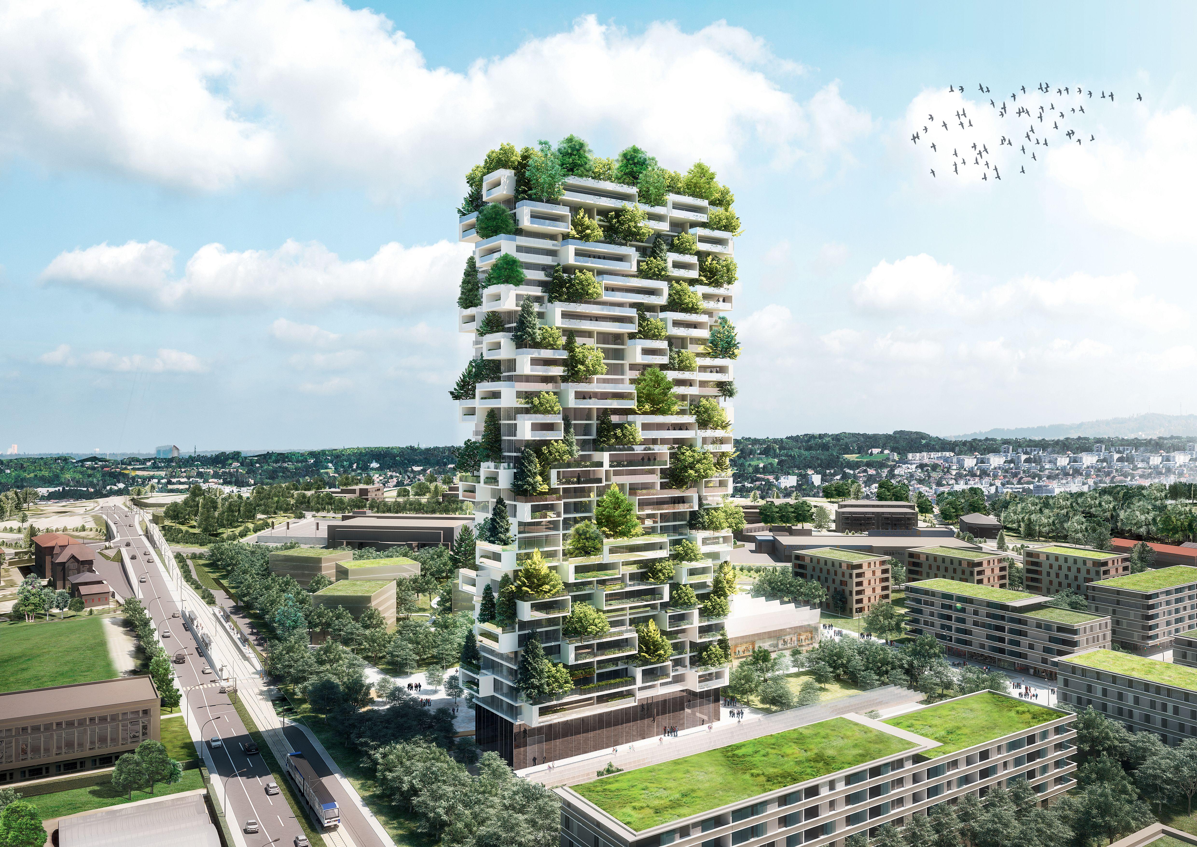Lausanne : une forêt verticale de 117 mètres pour la tour de