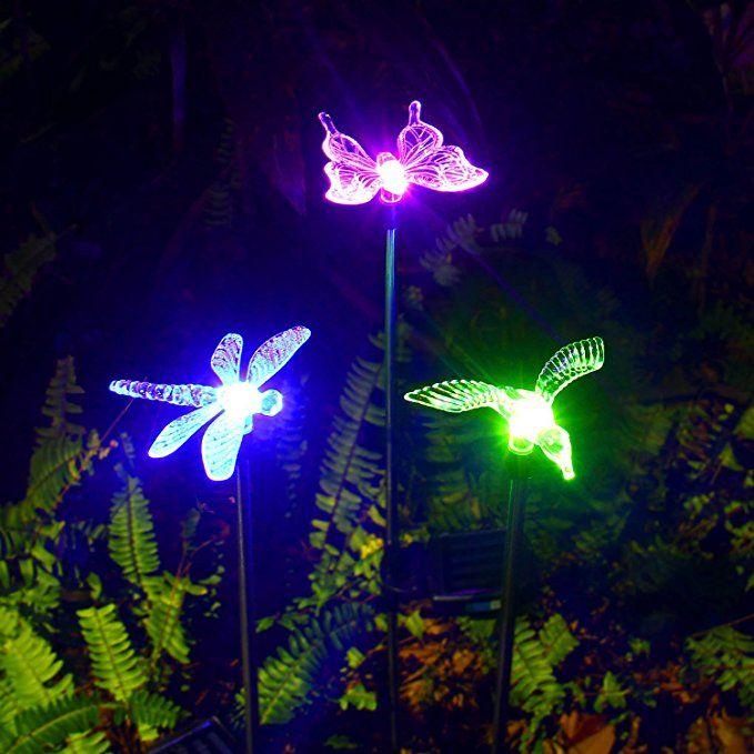 Merveilleux OxyLED Solar Garden Lights, 3 Pack Solar Garden Stake Light, Multi Color  Changing