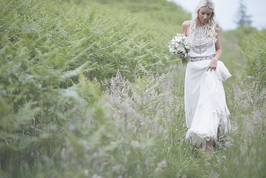 Midsummer Boho Alternative Rustic Country Wedding Photography Ideas Bride Amanda Wakeley