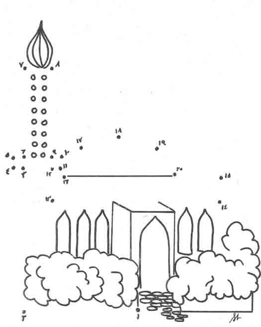 pictures of mosque colouring pages page 3