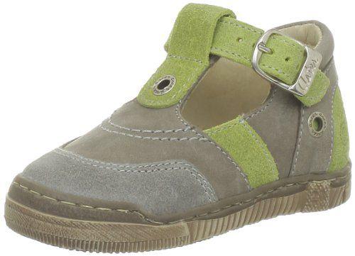 Däumling Timmy - Zapatos de primeros pasos de cuero bebé, color azul, talla 24