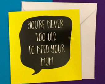 Funny Mothers Day Card Funny Birthday Card For Mum Mother And