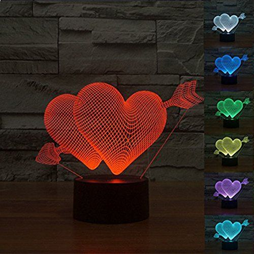 Wonfast Unique Lighting Effects And 3d Visualization Lamp Table Night Led Desk Light Living Bed Room Bar Best 3d Illusion Lamp 3d Led Lamp Colorful Desk Lamps