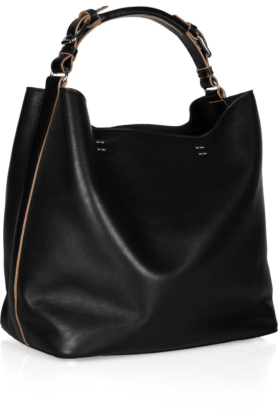 Marni | Slouchy leather shoulder bag | NET-A-PORTER.COM | Bags ...