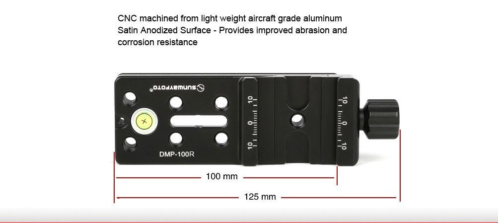 Multi Purpose Rail Nodal Slide Dmp 100r Model Dmp 100r Plate Length 100mm Whole Lenght 125mm Width 39mm Thic Photography Accessories Clamps Cnc Machine