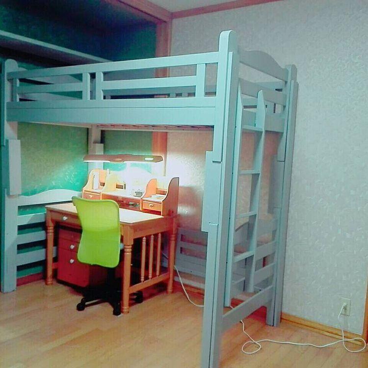 二段ベッドリメイク/ロフトベッド/ペイント/子供部屋/改造しました