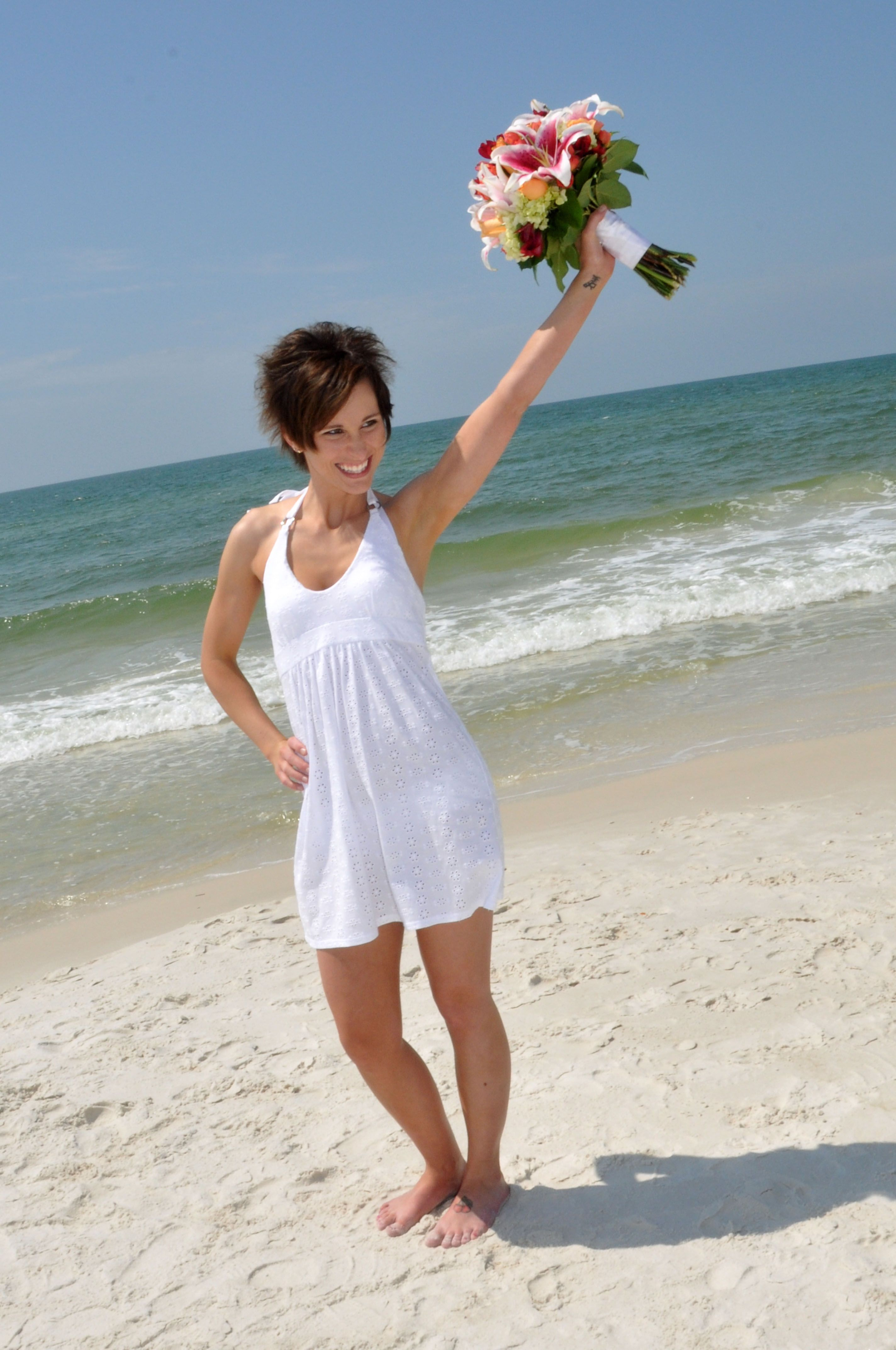 Cute Dress For A Beach Wedding Mexico Fl April 2017 Photo By Sunset Weddings