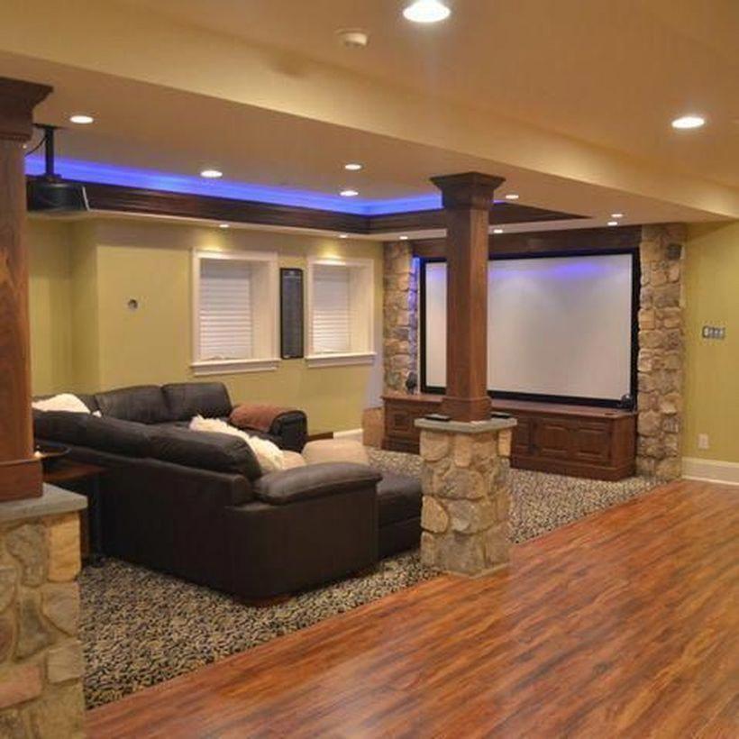 Home Design Basement Ideas: Small Basement Man Cave Ideas #smallbasementconversion In