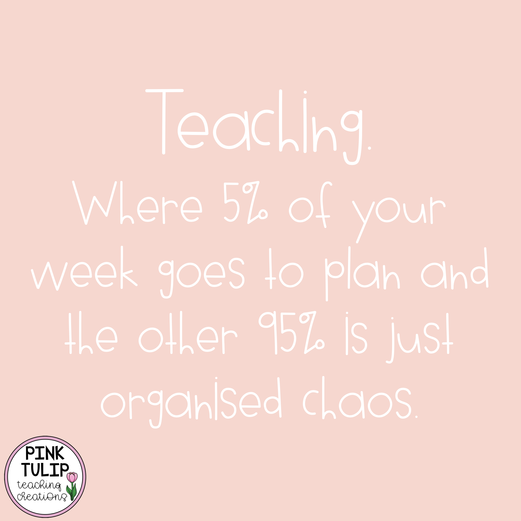 Teaching Where 5 Of Your Week Goes To Plan And The Other