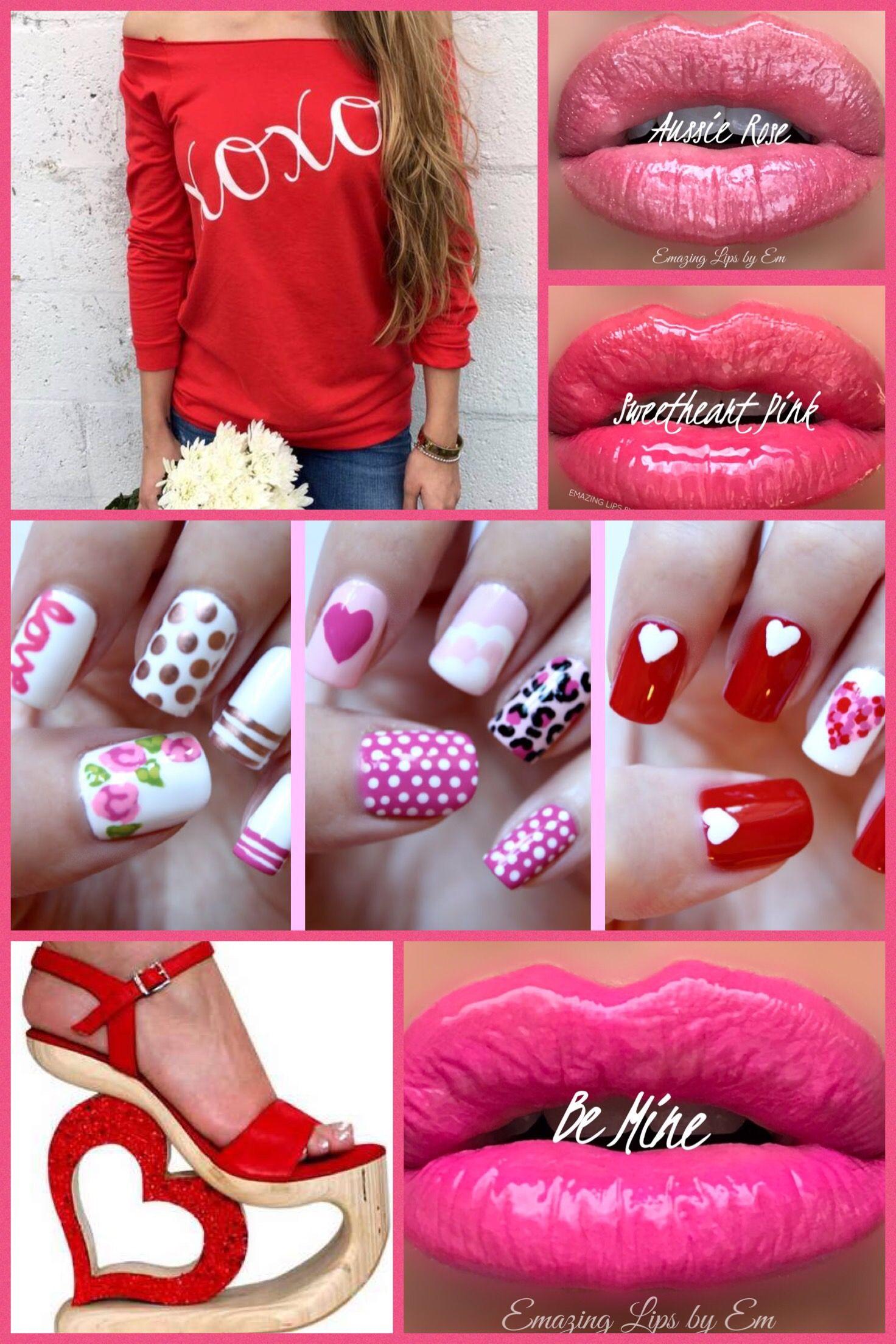 Valentine S Day Looks Graphic Outfit Fingernails Valentines Lipsense Makeup Ideas Xoxo Shirt Be Mine Lipsense S Lipsense Lipsense Pinks Lipsense Aussie Rose