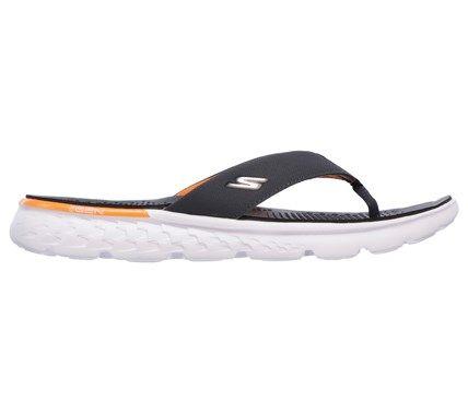 f5fe6098328 Skechers Men s On The GO 400 Shore Flip Flop Sandals (Charcoal Orange)