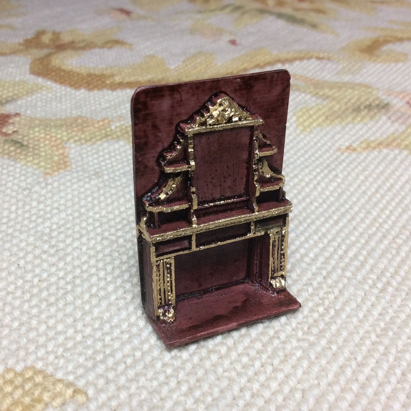 "1/4"" Scale Resin Fireplace Dollhouse Miniature 