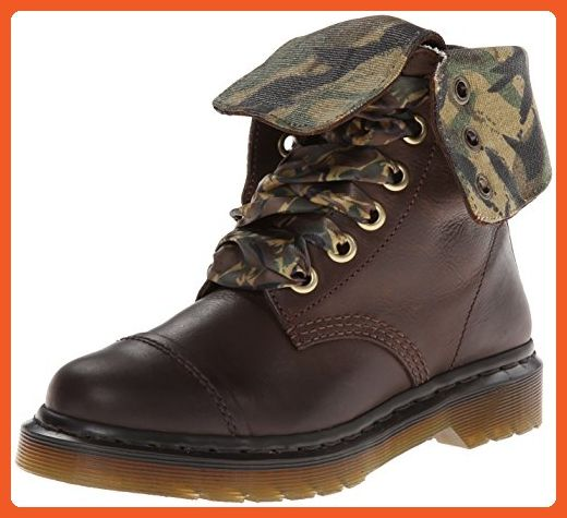 Dr. Martens Women's Aimilita 9 Eye Toe Cap Boot,Dark Brown,5 UK
