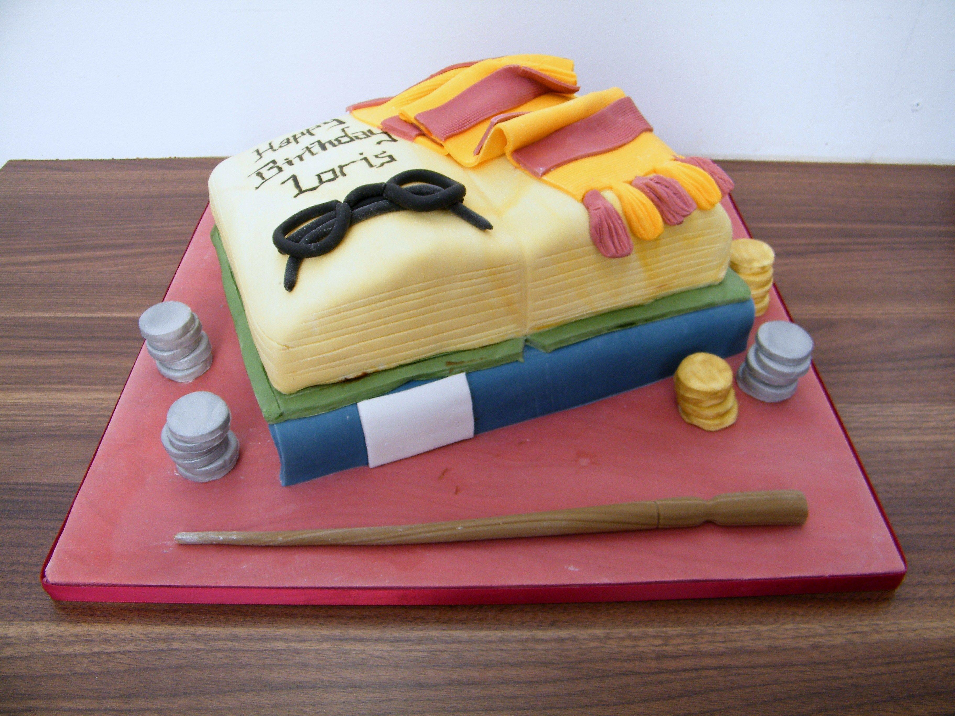 Harry Potter Book Birthday Celebration Cake By La Belle Cake Company