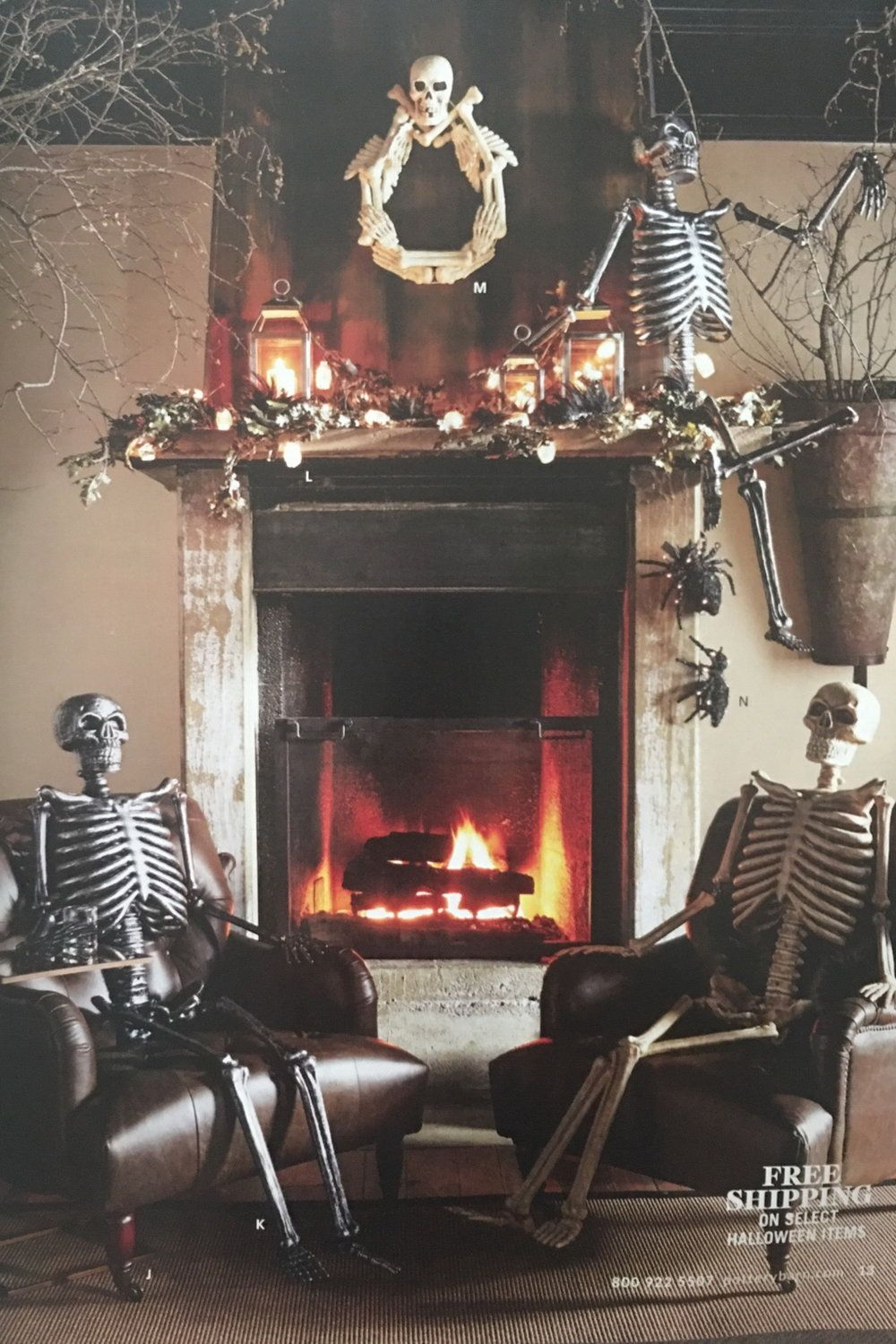 50 Outstanding Halloween Mantel Decorating Ideas Halloween House Decoration Halloween Mantel Halloween House
