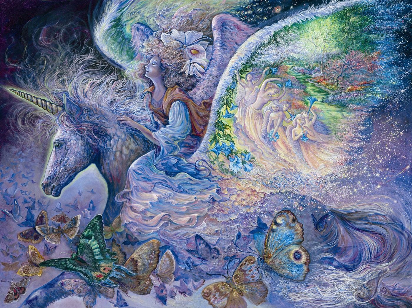 Wings 4 Par Josephine Wall Josephine Wall Art Unicorn Art