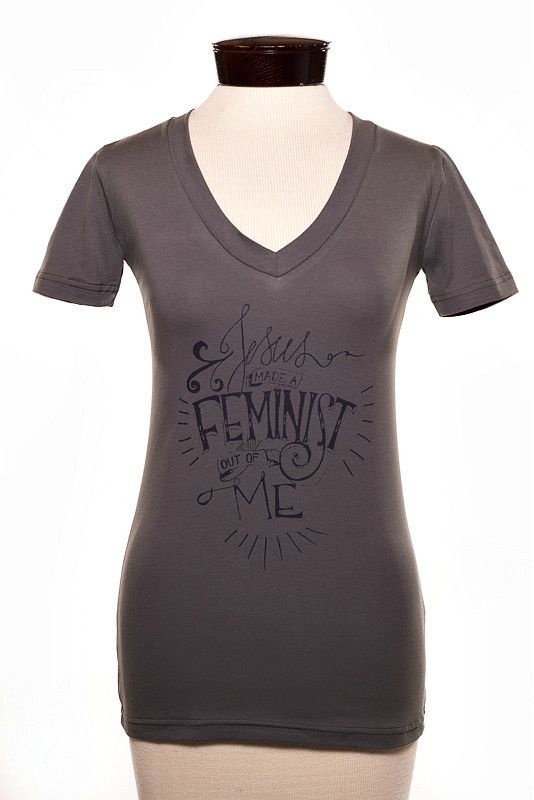 """""""Jesus Made a Feminst Out of Me"""" Women's T-Shirt size L (or maybe XL, not sure if they run small)"""