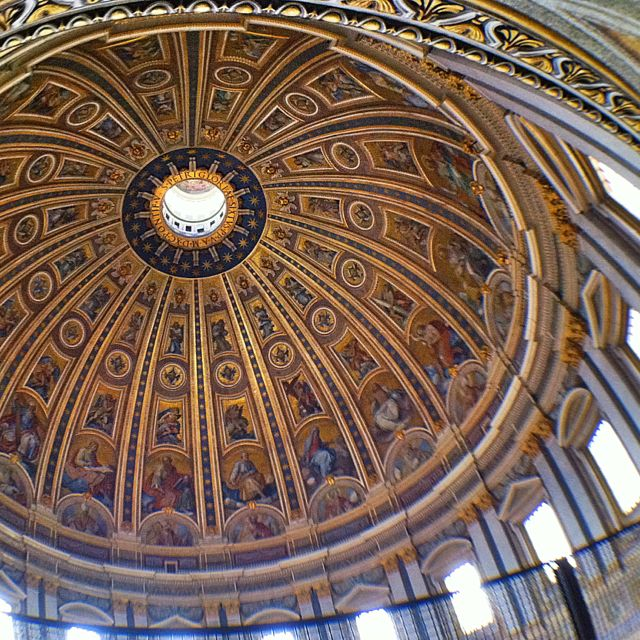 Beautiful and amazing: the St. Peter's Basilica Dome, Rome.