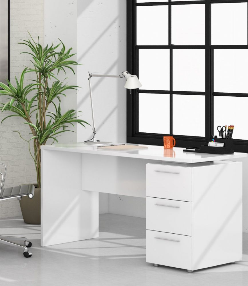 Adalrik white desk with drawers save 40 at