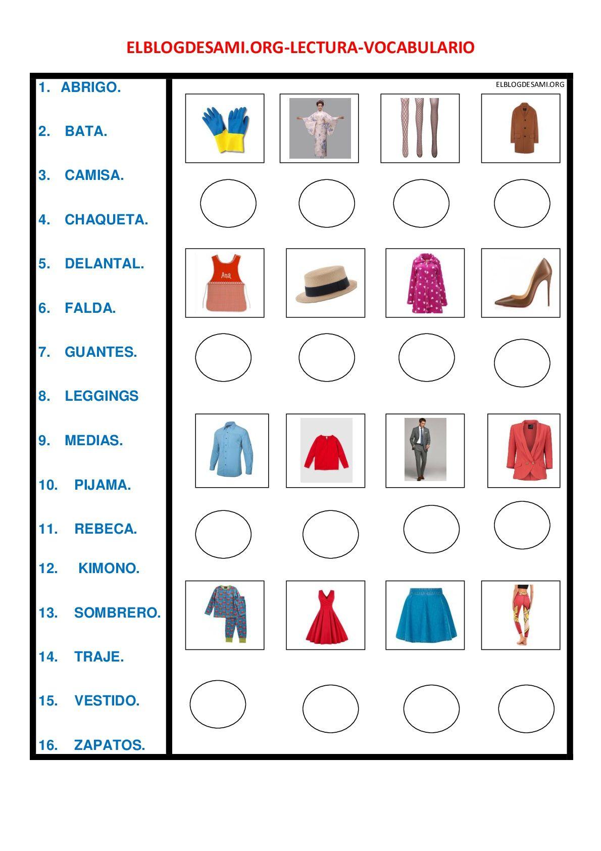 Lengua Con Imagenes Actividades De Espanol Materiales