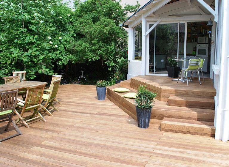 terrasse en kebony avec marches et petit palier terrasse sur plusieurs niveaux pinterest. Black Bedroom Furniture Sets. Home Design Ideas