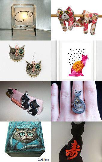 Cat World by Jam Toast on Etsy--Pinned with TreasuryPin.com