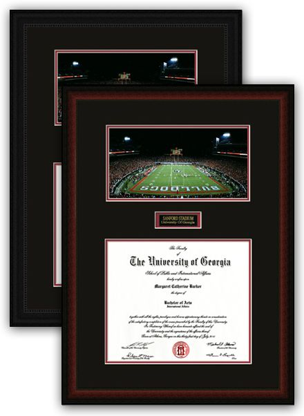 diploma uga frame night stadium frames sanford georgia university