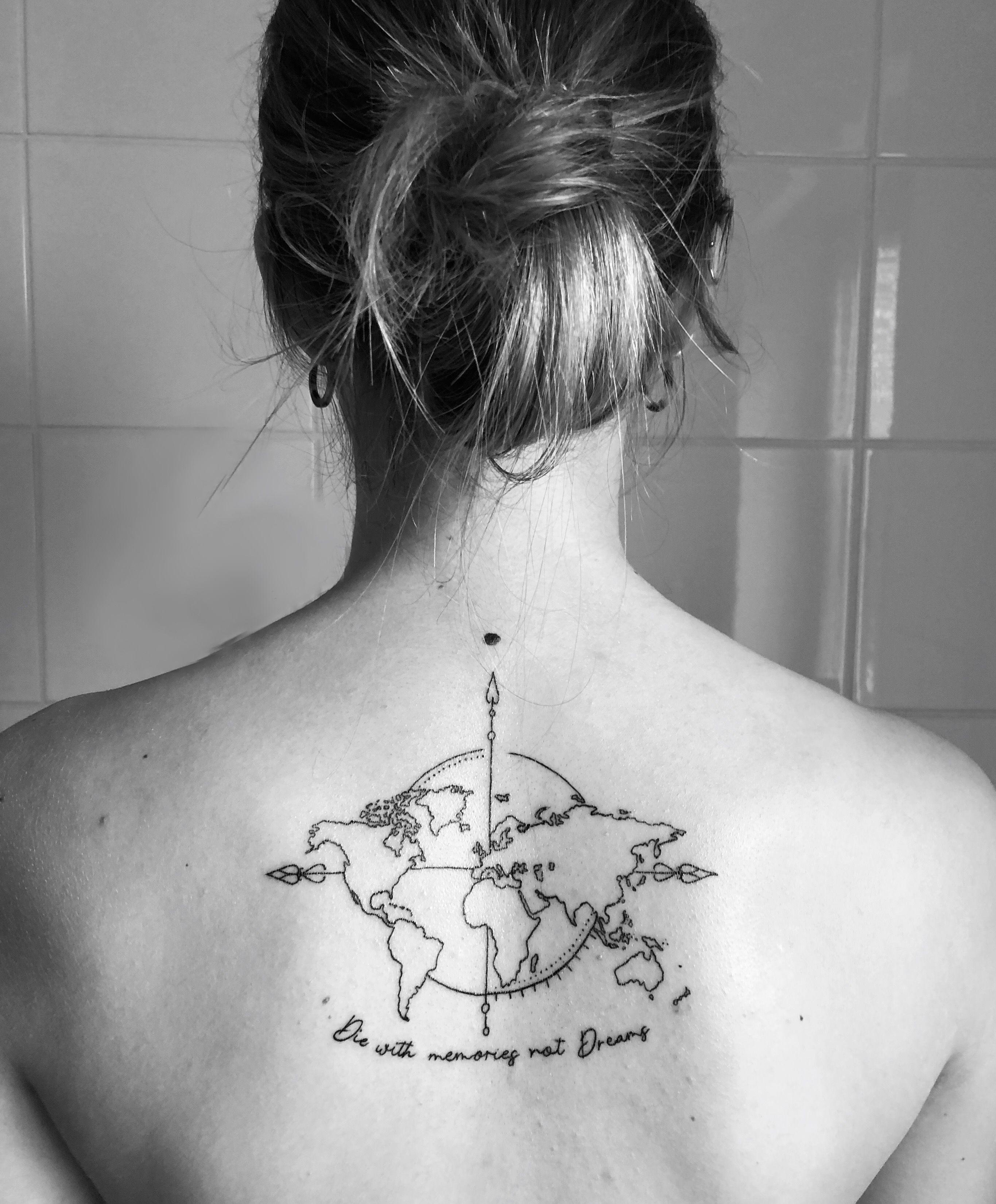 World Map Tattoo Sok Pa Google Weltkarte