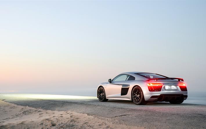 Fondos De Pantalla Coches: Descargar Fondos De Pantalla 4k, Audi R8, Costa De 2017