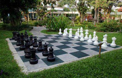 garden chess set. The Chess House - News: Giant Sets: Ingenious Ideas Garden Set S