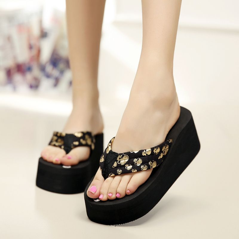 adf7795e32a2f Women Flip Flops Wedges Platform Slippers 2017 Fashion Skull Sandals Wedge  Slippers Wedges Women Summer Shoes