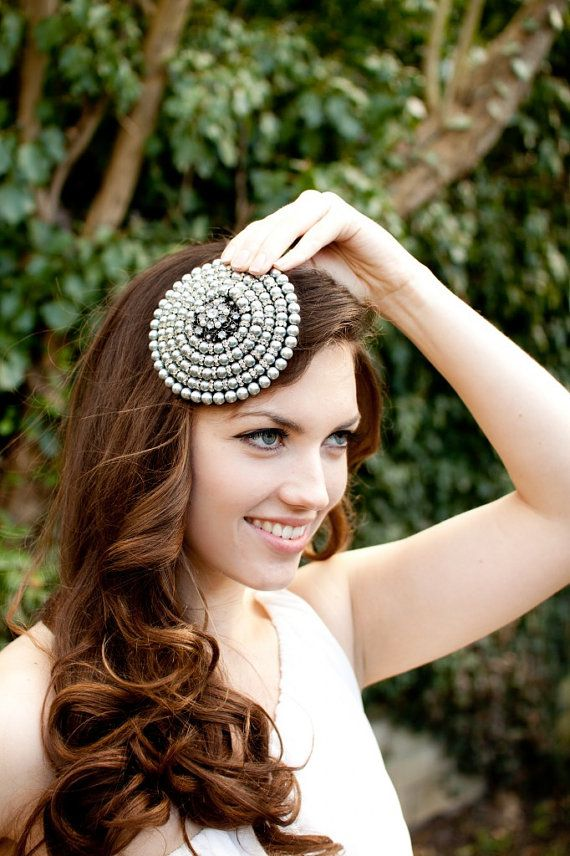 bf492c690efbc Jacqueline Pearl   Crystal Fascinator for by JustFasinating