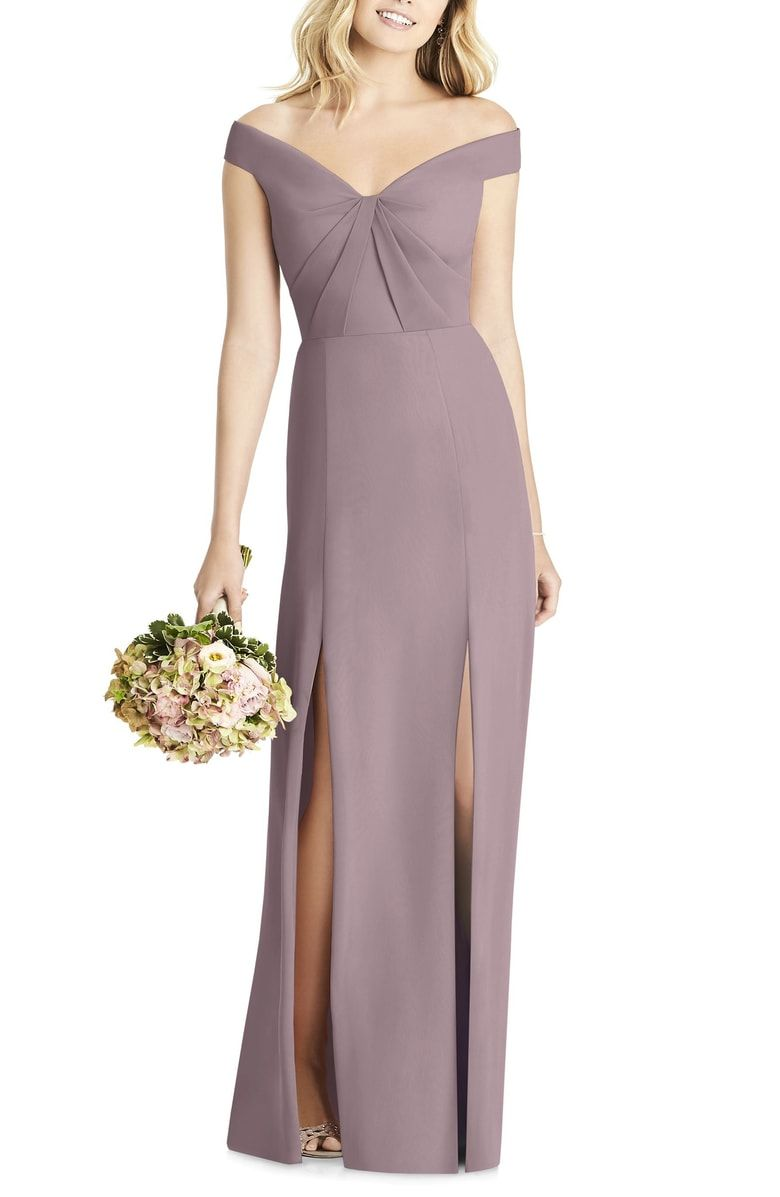 Shoulder Chiffon Gown