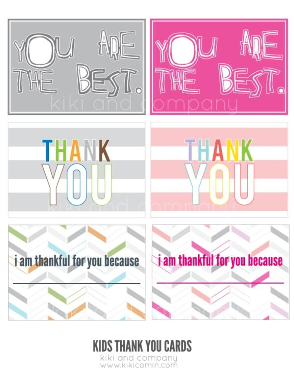printable thank you notes for children