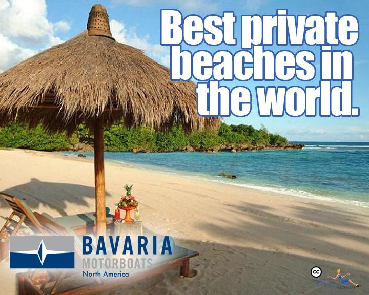 The World's Best Private Beaches!   ‪#‎YachtForSale‬