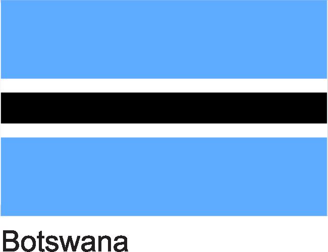 Botswana Flag Botswana Flag Botswana Flag