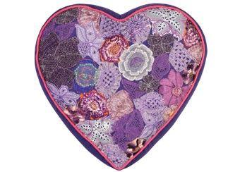 Herzförmiges Sari-Kerzkissen in 4 Farben Colorique - Valentinstagidee