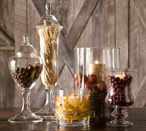 i am in love with glass canisters