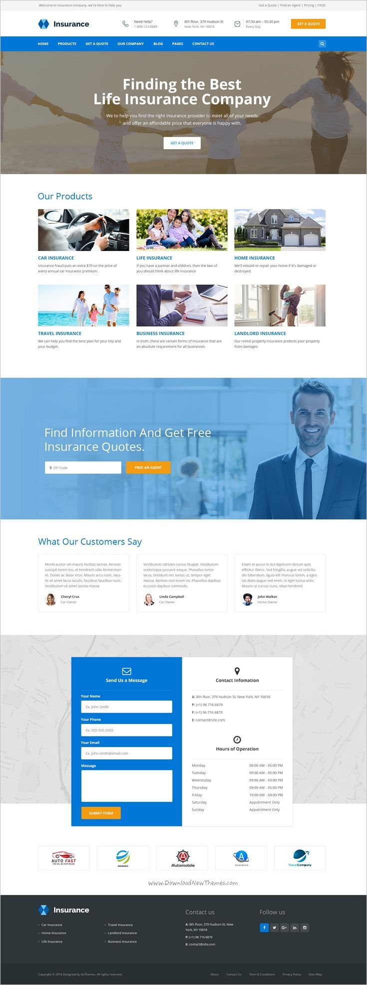 Insurance Is A Clean 2in1 Psd Theme Suitable For Insurance