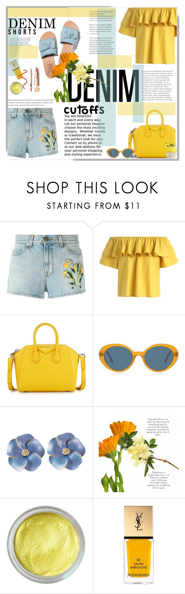 """""""like look"""" by licethfashion ❤ liked on Polyvore featuring Gucci, Chicwish, Givenchy, Oliver Peoples, Yves Saint Laurent, polyvoreeditorial and licethfashion"""