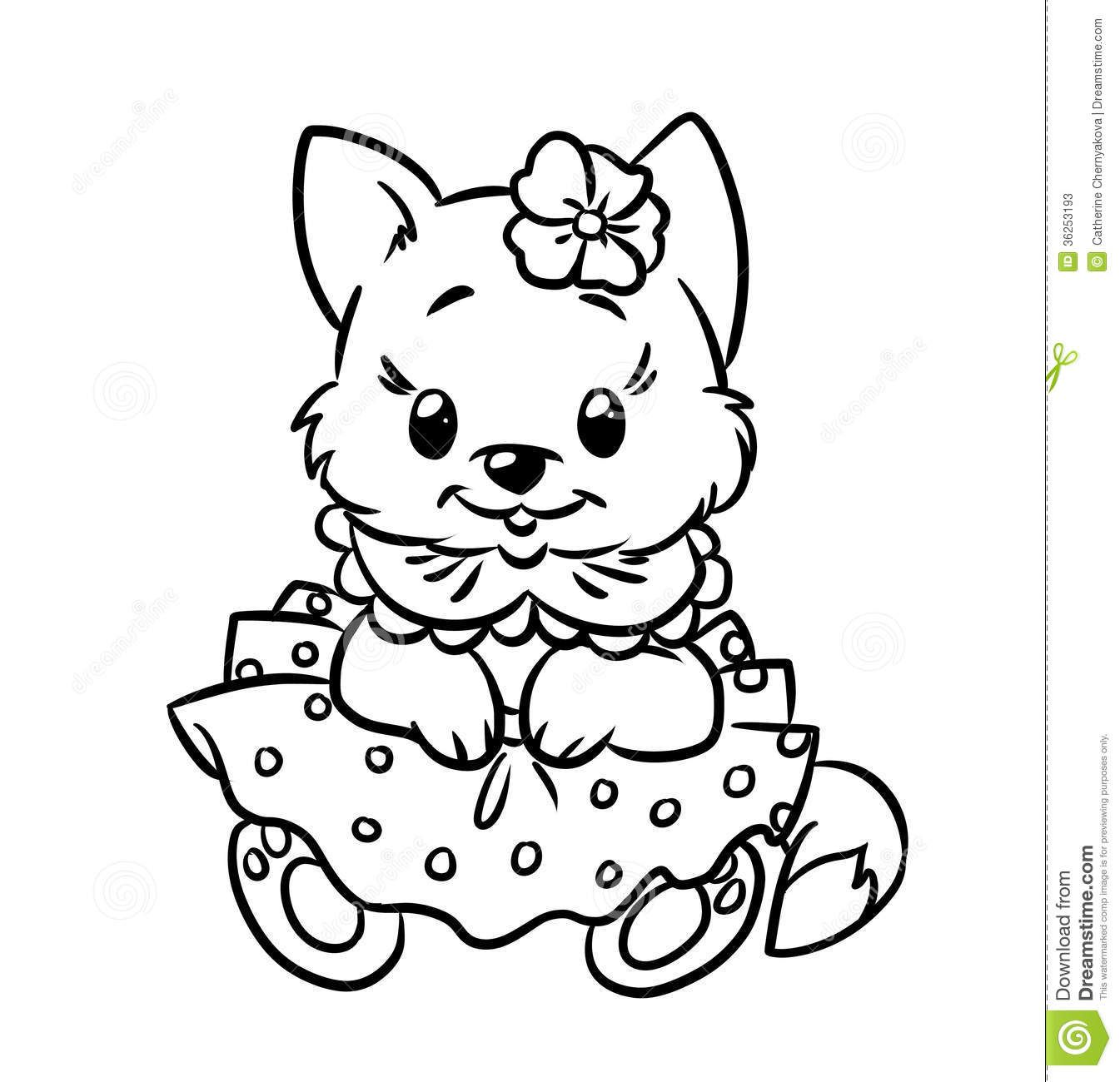 Kitten Puppy Coloring Pages Cat Coloring Page Cat Coloring Book