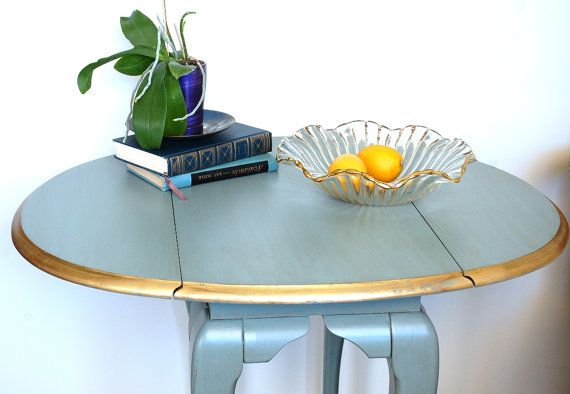 Best Small Round Table Oval Blue Side Table End Table By 400 x 300