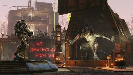 Live Deathclaw fights? SO COOL! New Fallout 4 DLC comings this