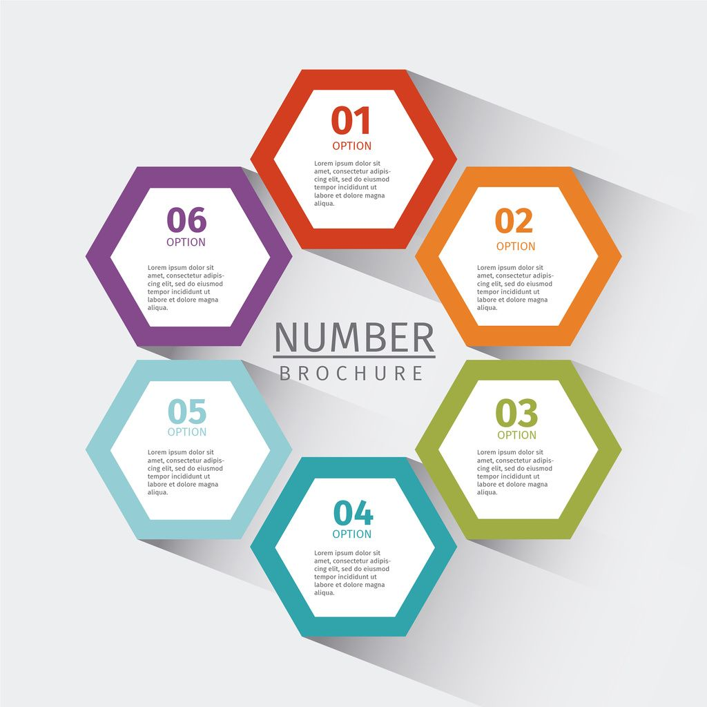 Mulitpurpose Numbered Tab Infographic 6 By Gstudio Templates