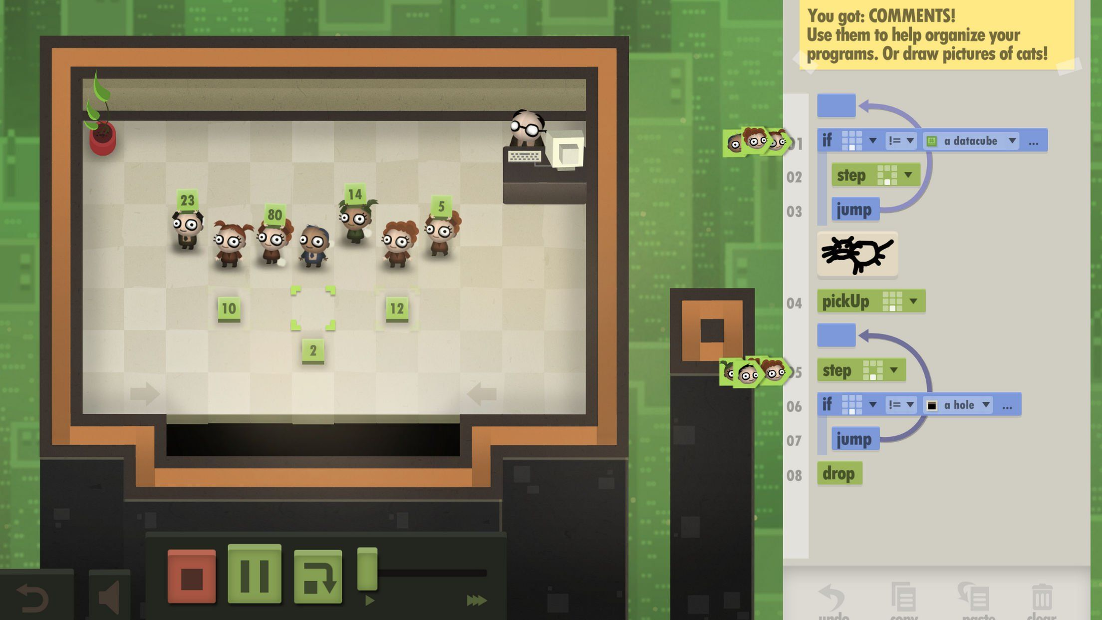 Automate a Swarm of Office Workers to Solve Puzzles in 7