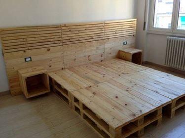 Letto Di Pallets : Letto con bancali letto con bancali fabulous mobili con pallet