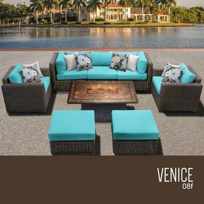 Venice 08f Aruba Venice 8 Piece Outdoor Wicker Patio